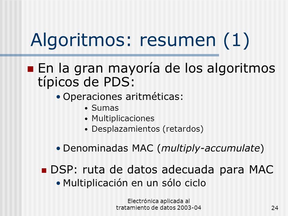 Algoritmos: resumen (1)
