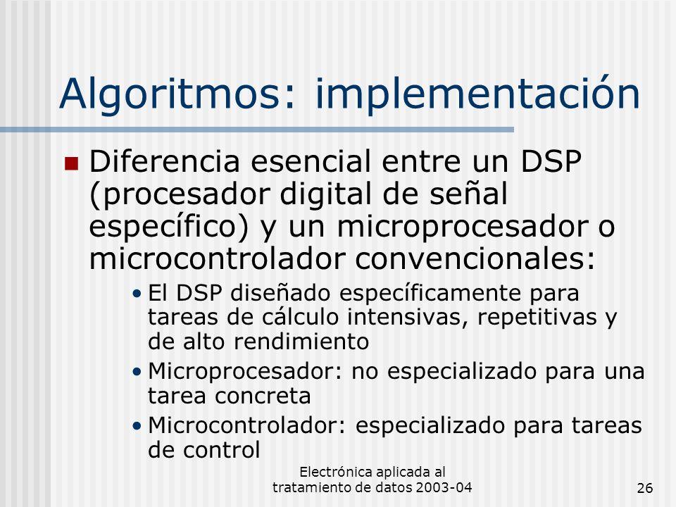 Algoritmos: implementación