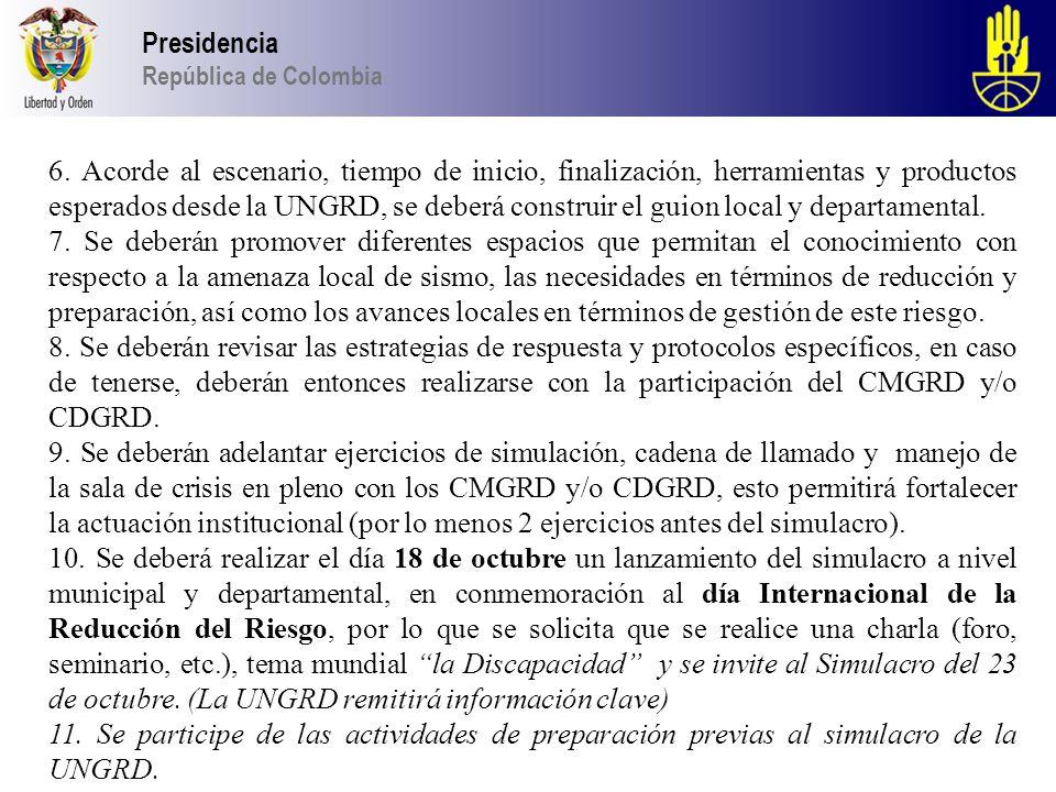 Presidencia República de Colombia.