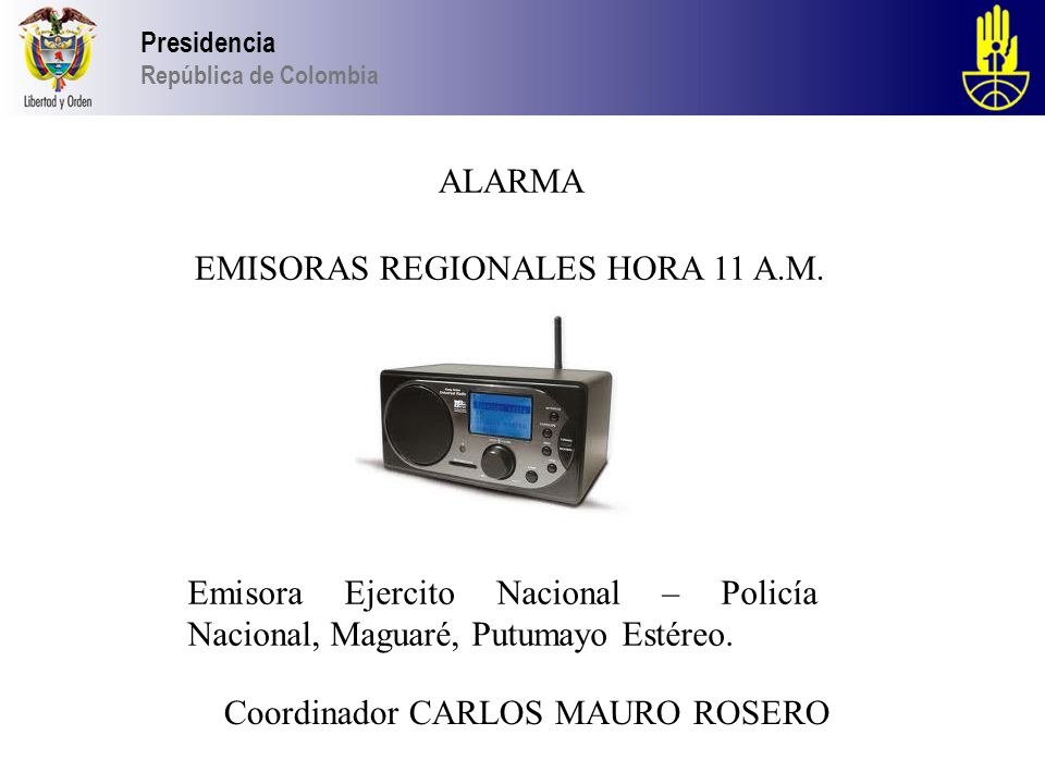 EMISORAS REGIONALES HORA 11 A.M.