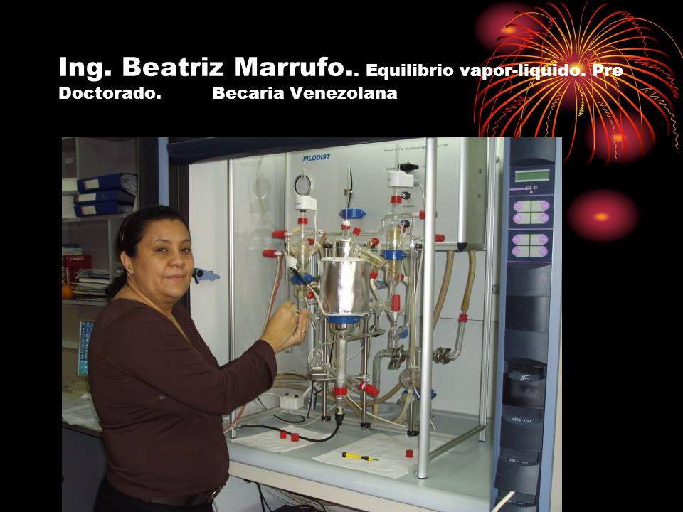 Ing. Beatriz Marrufo. Equilibrio vapor-liquido. Pre Doctorado