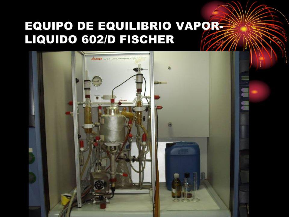 EQUIPO DE EQUILIBRIO VAPOR-LIQUIDO 602/D FISCHER