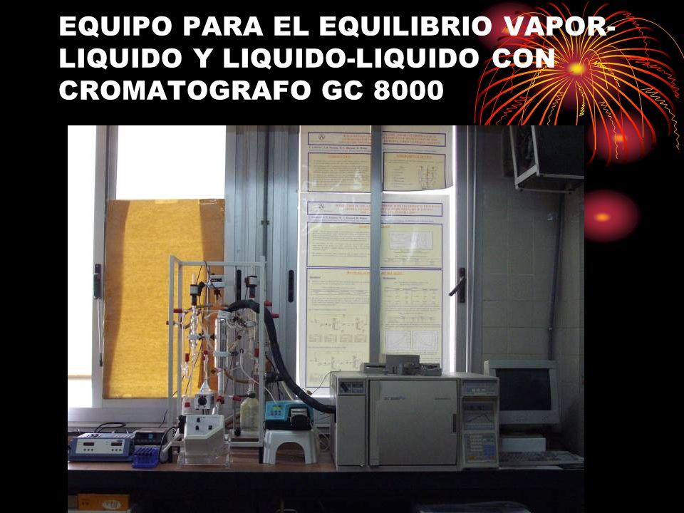 EQUIPO PARA EL EQUILIBRIO VAPOR- LIQUIDO Y LIQUIDO-LIQUIDO CON CROMATOGRAFO GC 8000