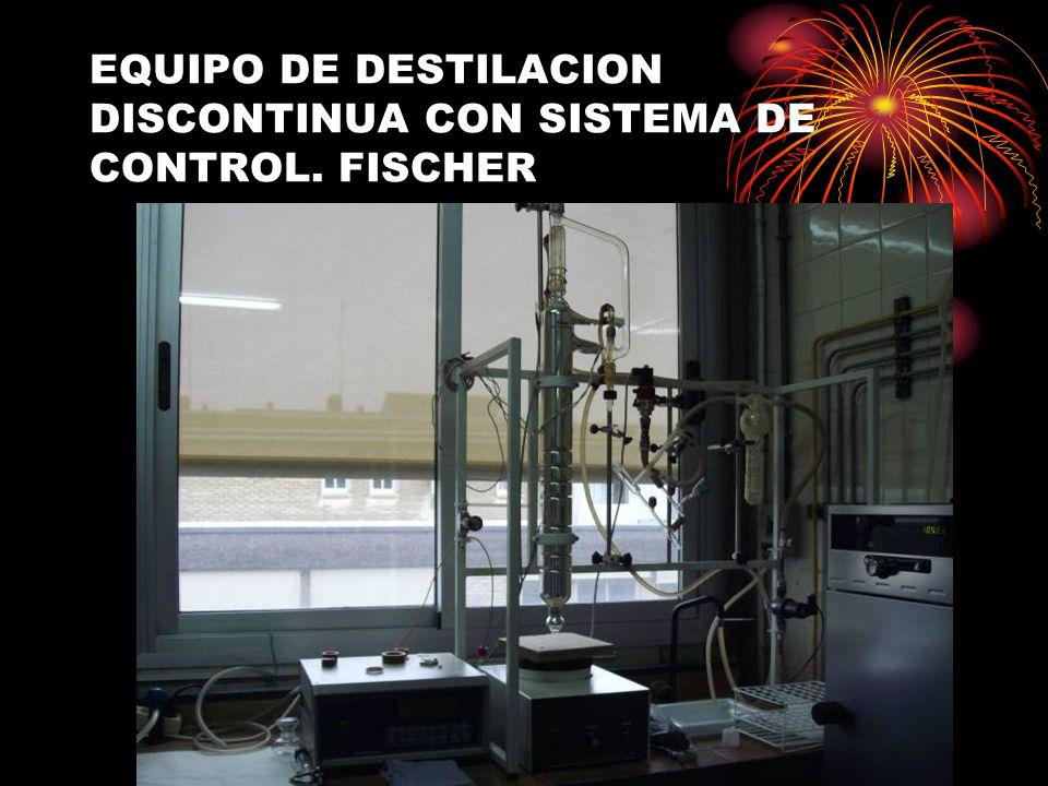 EQUIPO DE DESTILACION DISCONTINUA CON SISTEMA DE CONTROL. FISCHER