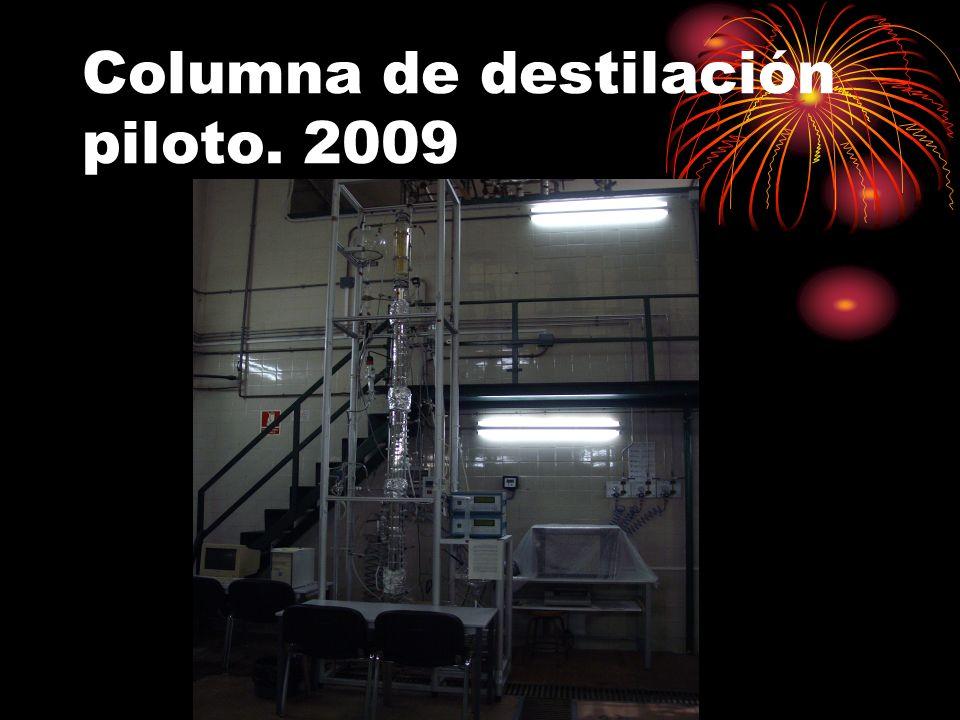 Columna de destilación piloto. 2009