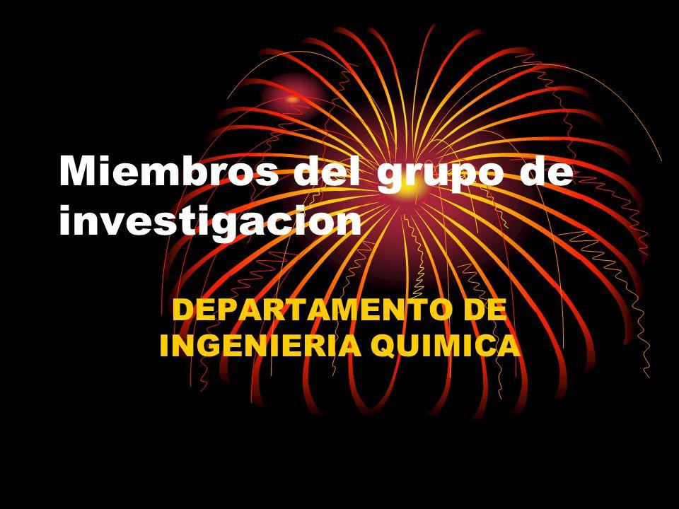 Miembros del grupo de investigacion