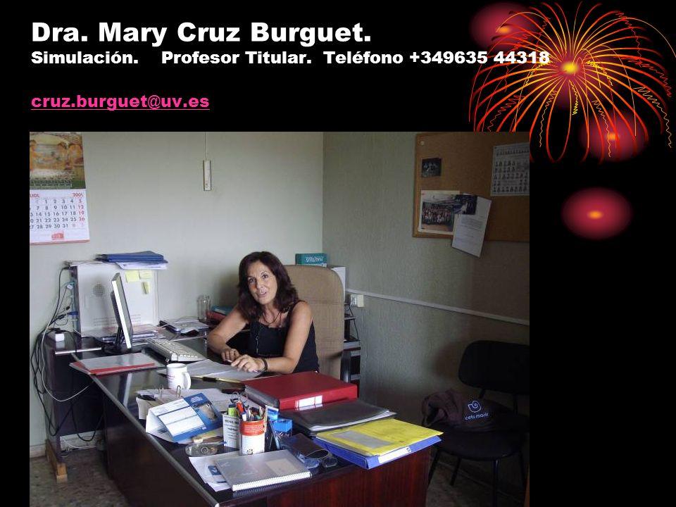 Dra. Mary Cruz Burguet. Simulación. Profesor Titular