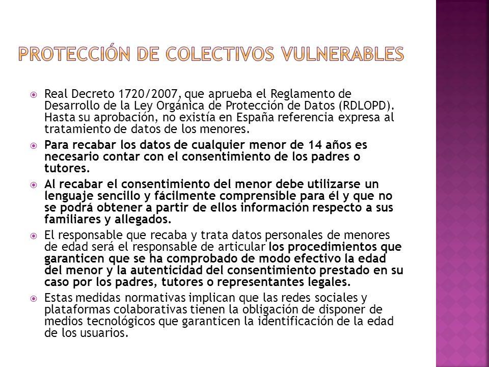 Protección de colectivos vulnerables