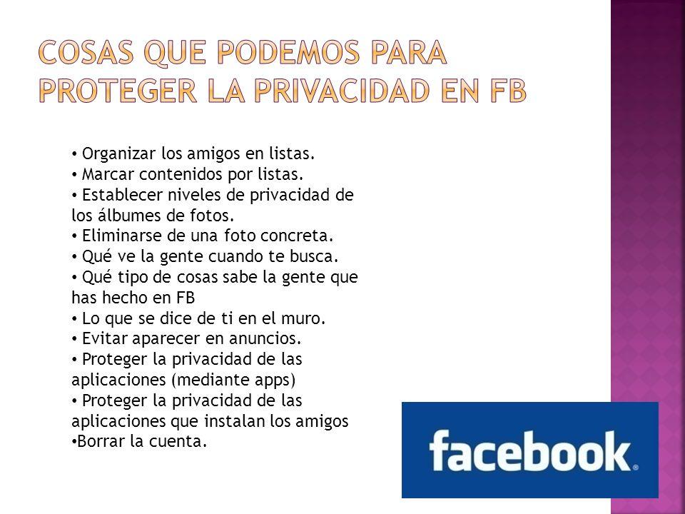 Cosas que podemos para proteger la privacidad en FB