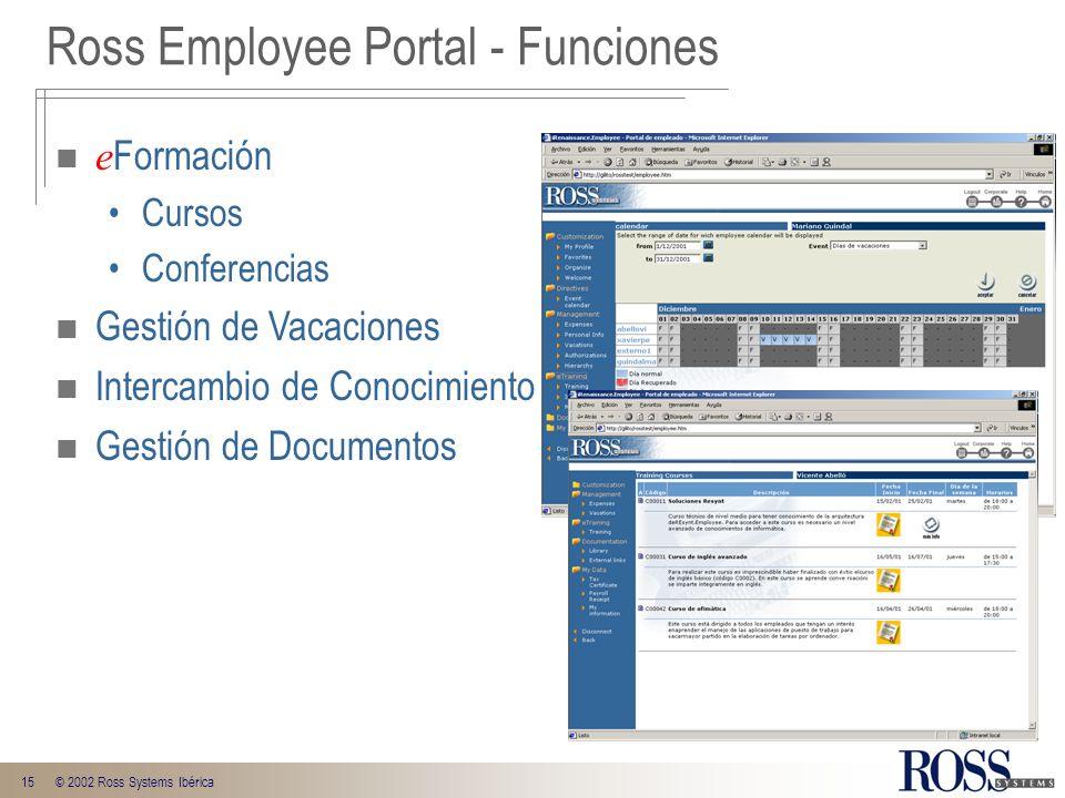 Ross Employee Portal - Funciones