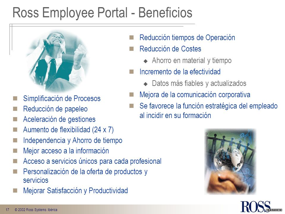 Ross Employee Portal - Beneficios
