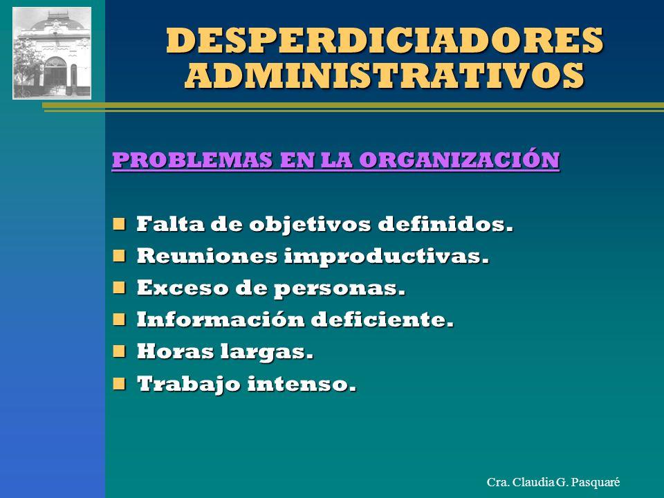 DESPERDICIADORES ADMINISTRATIVOS