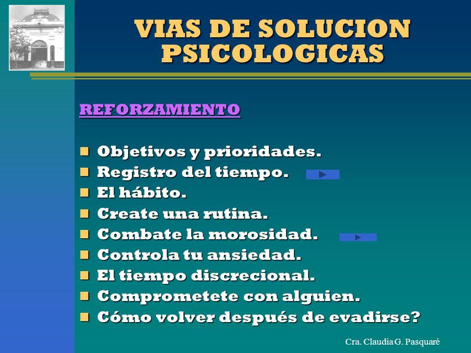 VIAS DE SOLUCION PSICOLOGICAS