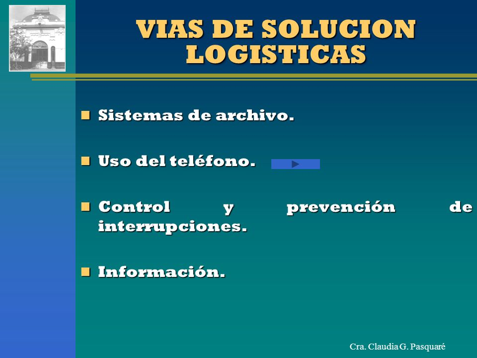 VIAS DE SOLUCION LOGISTICAS