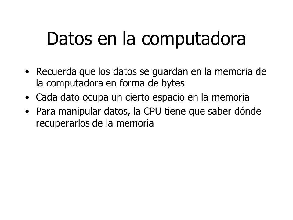 Datos en la computadora