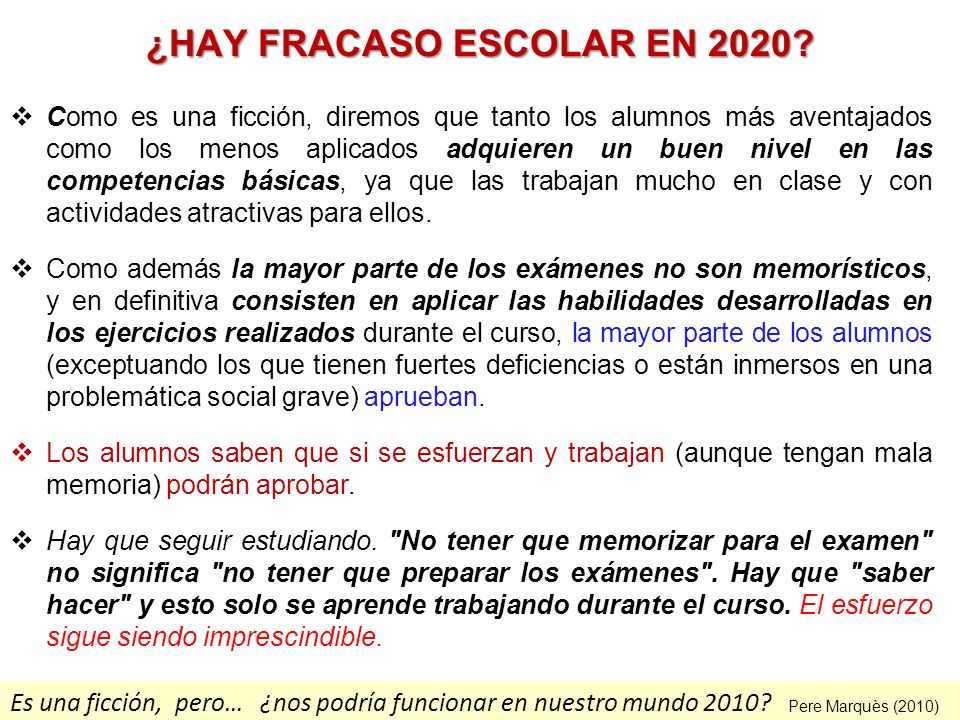 ¿HAY FRACASO ESCOLAR EN 2020