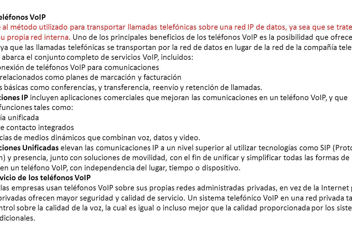 Términos de teléfonos VoIP