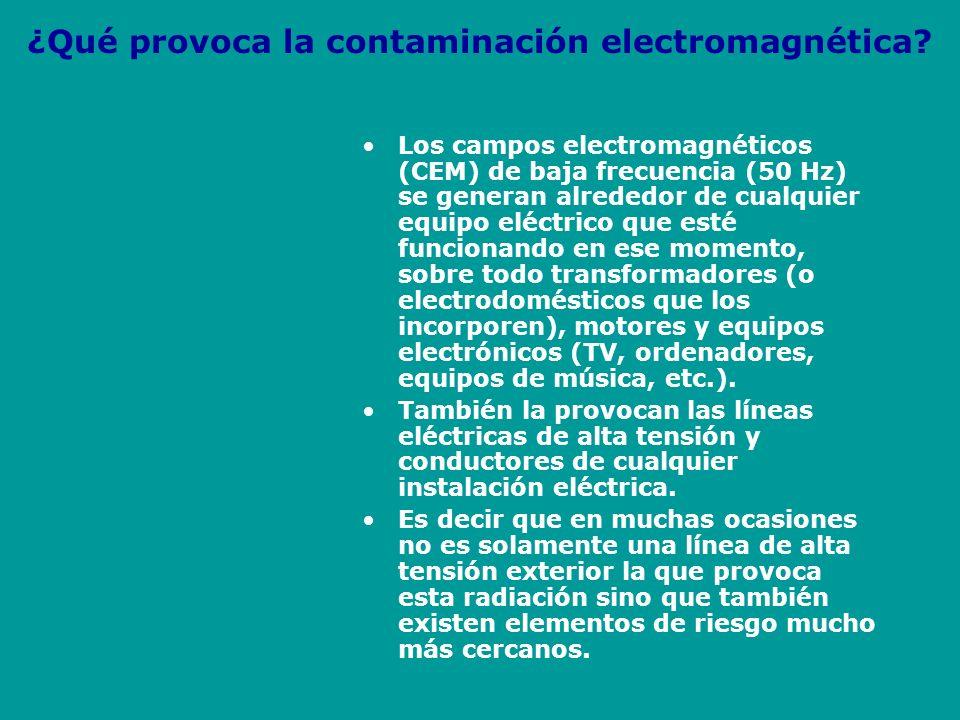 ¿Qué provoca la contaminación electromagnética
