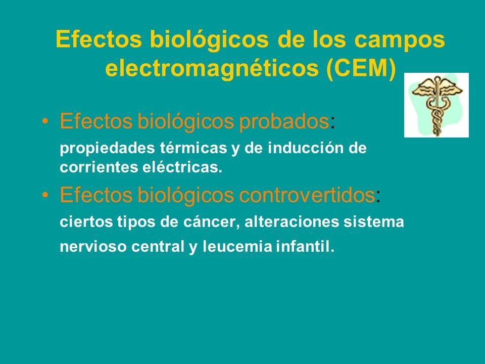 Efectos biológicos de los campos electromagnéticos (CEM)