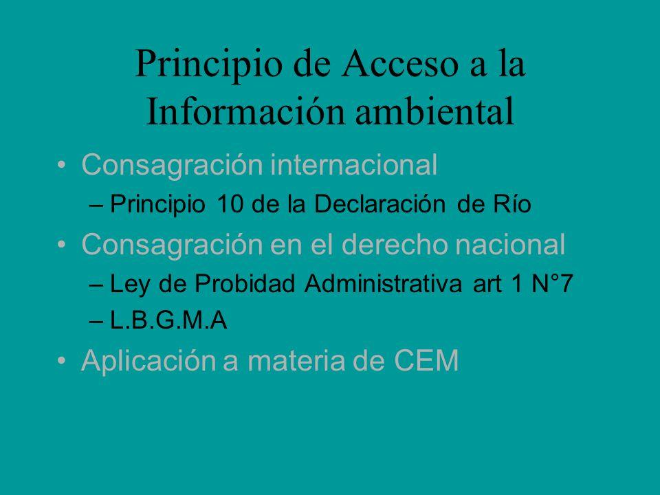 Principio de Acceso a la Información ambiental
