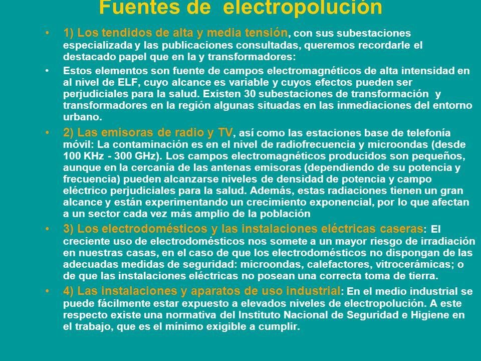 Fuentes de electropolución