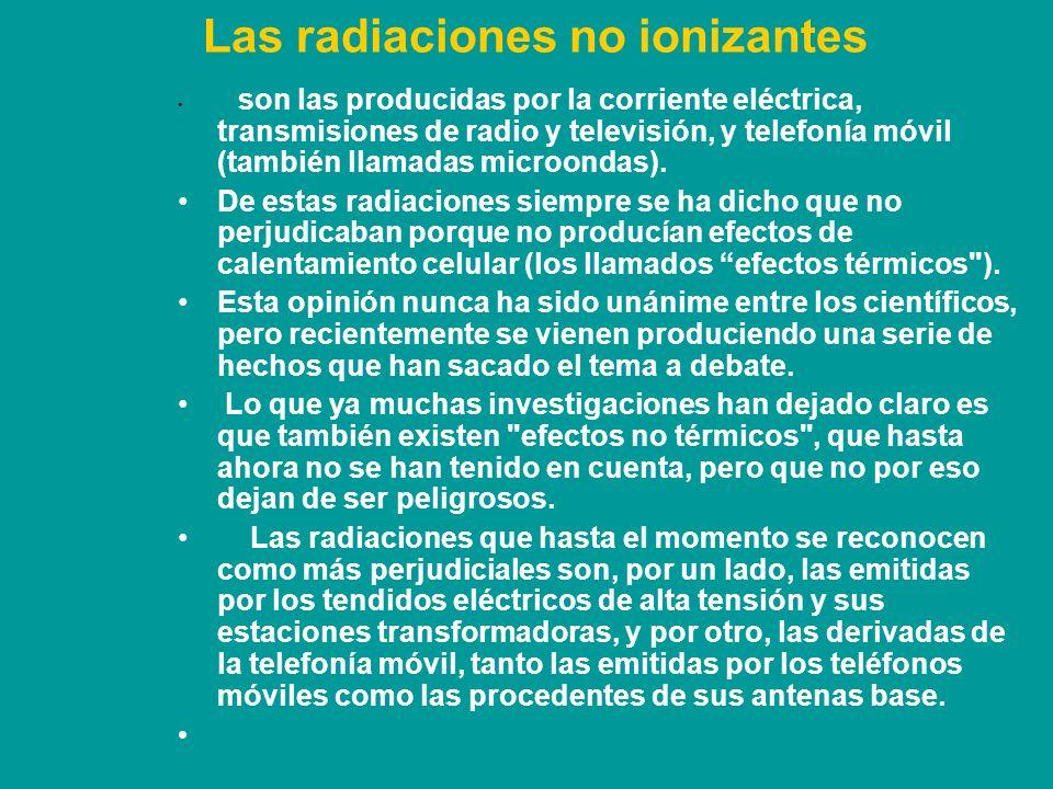 Las radiaciones no ionizantes