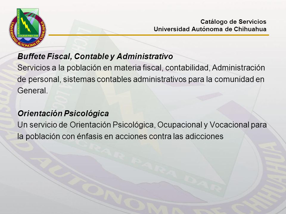 Buffete Fiscal, Contable y Administrativo
