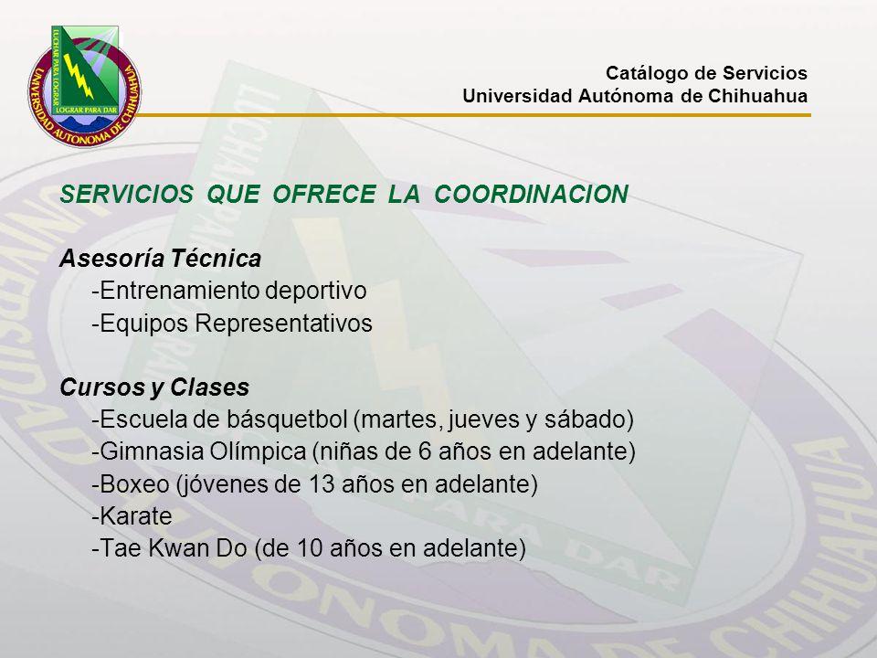 SERVICIOS QUE OFRECE LA COORDINACION Asesoría Técnica
