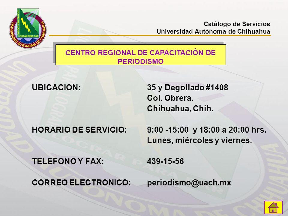 CENTRO REGIONAL DE CAPACITACIÓN DE PERIODISMO