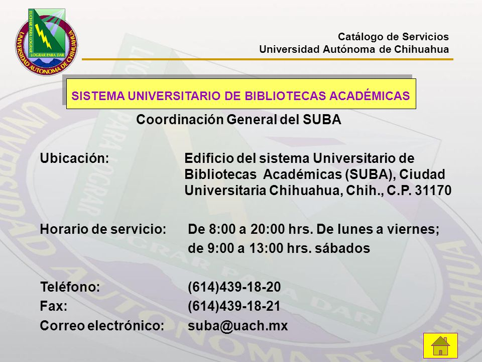 SISTEMA UNIVERSITARIO DE BIBLIOTECAS ACADÉMICAS