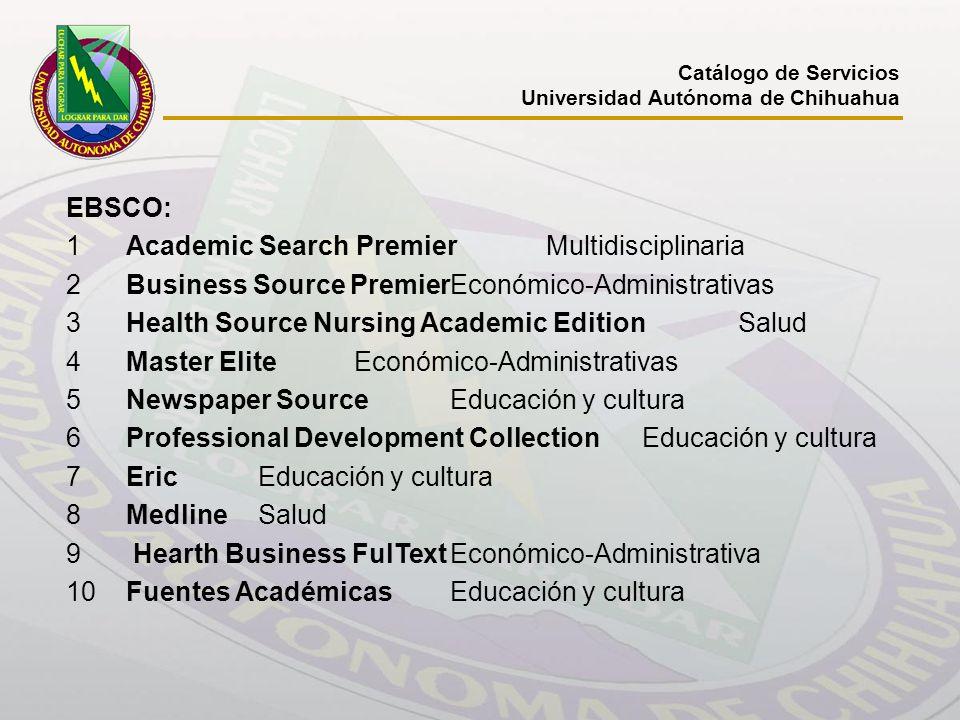1 Academic Search Premier Multidisciplinaria