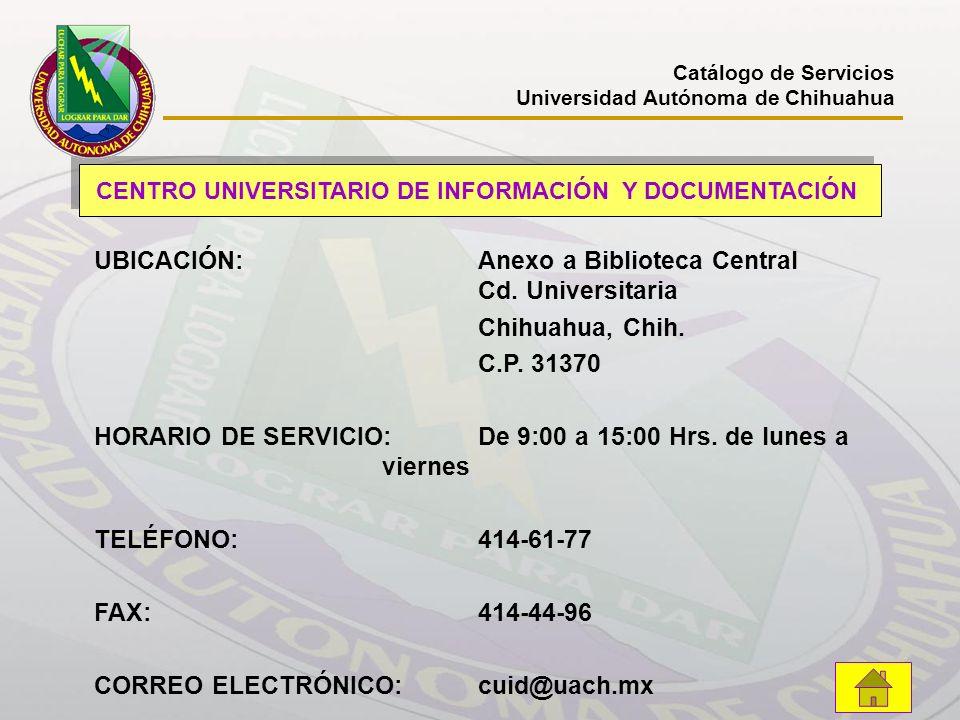 CENTRO UNIVERSITARIO DE INFORMACIÓN Y DOCUMENTACIÓN