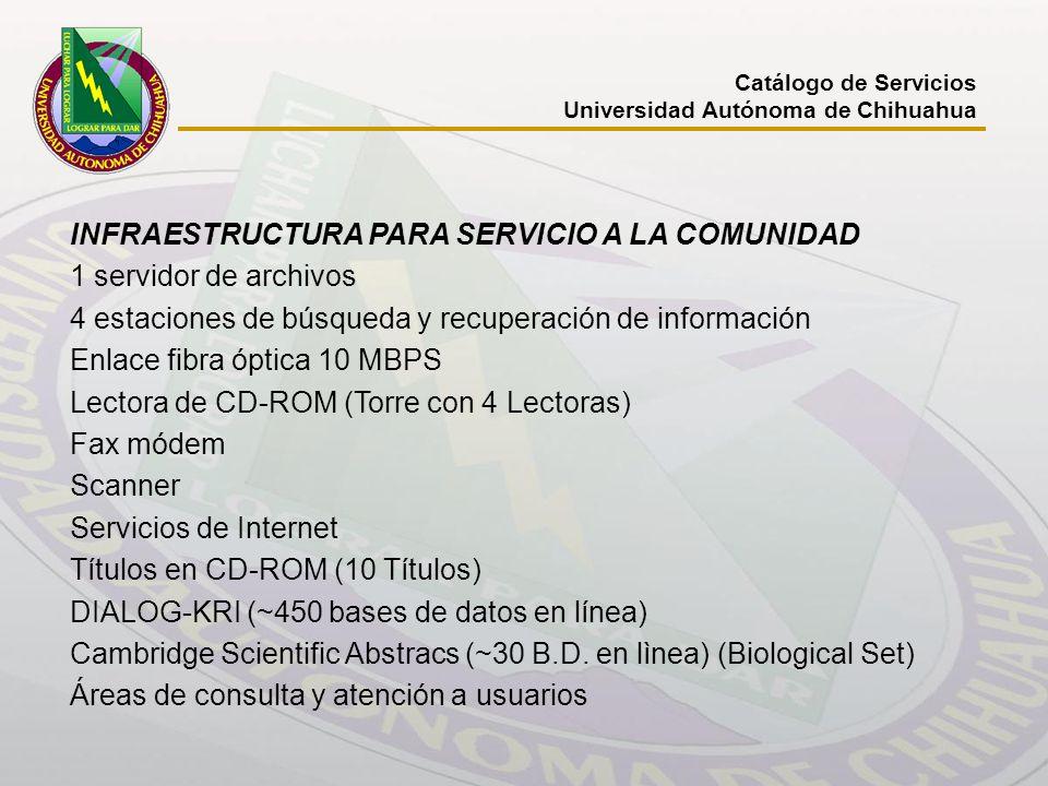 INFRAESTRUCTURA PARA SERVICIO A LA COMUNIDAD 1 servidor de archivos