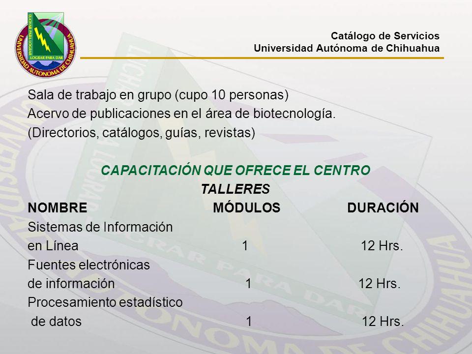 CAPACITACIÓN QUE OFRECE EL CENTRO