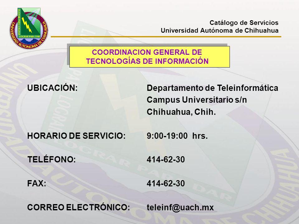 COORDINACION GENERAL DE TECNOLOGÍAS DE INFORMACIÓN