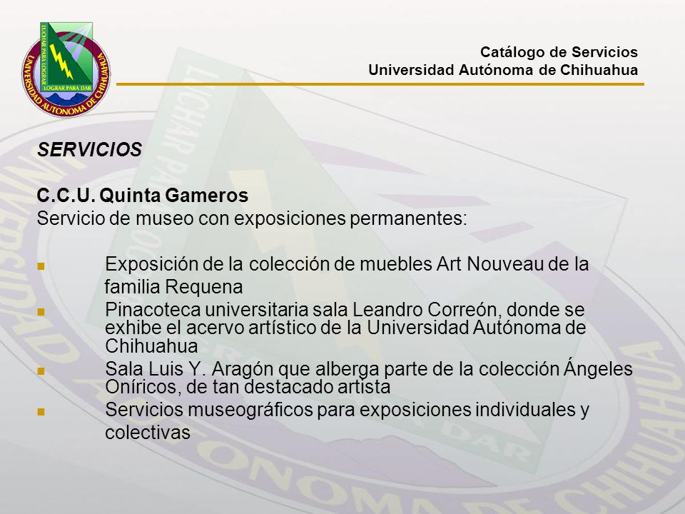Servicio de museo con exposiciones permanentes: