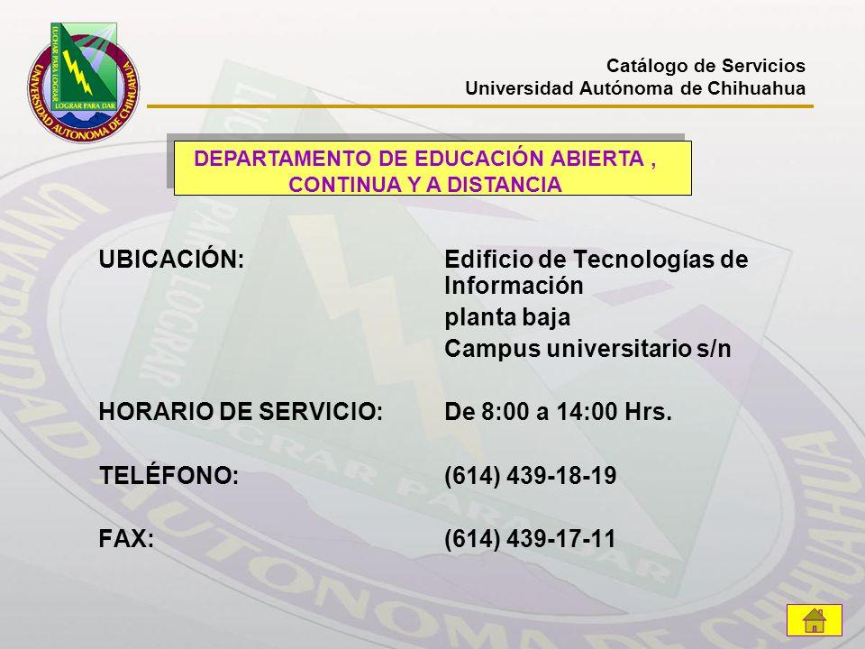 DEPARTAMENTO DE EDUCACIÓN ABIERTA , CONTINUA Y A DISTANCIA