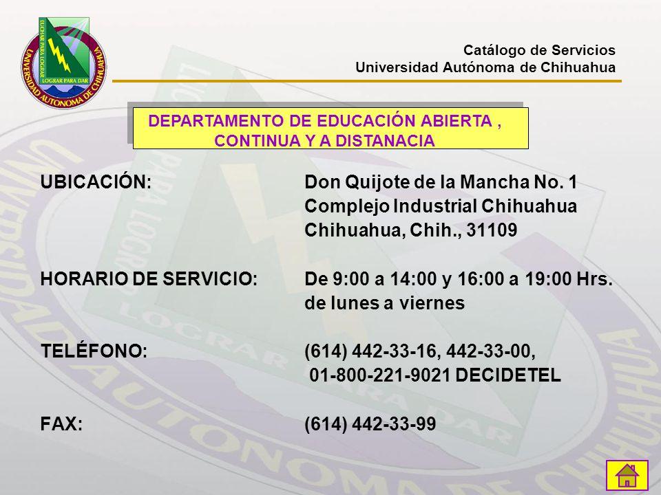 DEPARTAMENTO DE EDUCACIÓN ABIERTA , CONTINUA Y A DISTANACIA