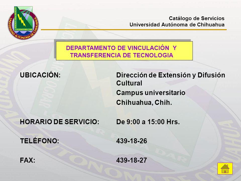 DEPARTAMENTO DE VINCULACIÓN Y TRANSFERENCIA DE TECNOLOGIA