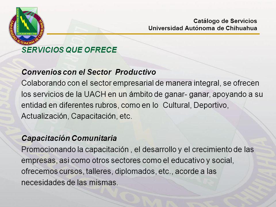 Convenios con el Sector Productivo