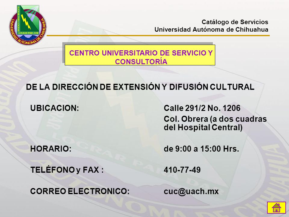CENTRO UNIVERSITARIO DE SERVICIO Y CONSULTORÍA