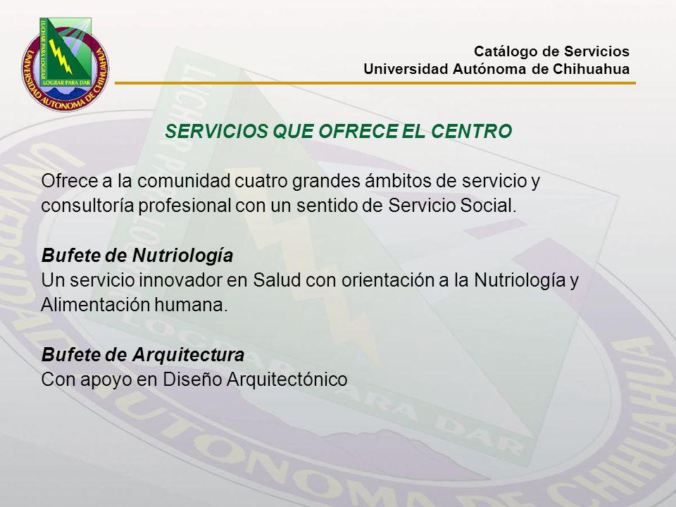 SERVICIOS QUE OFRECE EL CENTRO