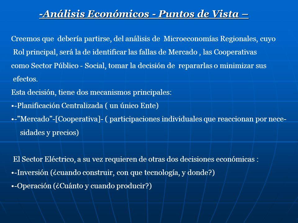 -Análisis Económicos - Puntos de Vista –