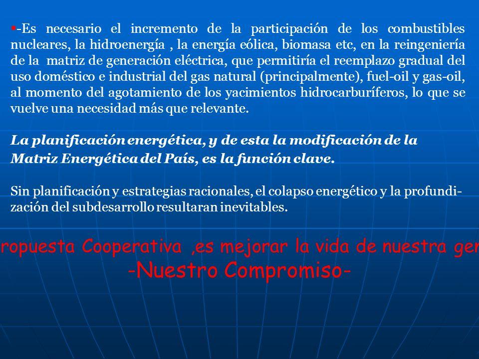 La propuesta Cooperativa ,es mejorar la vida de nuestra gente,