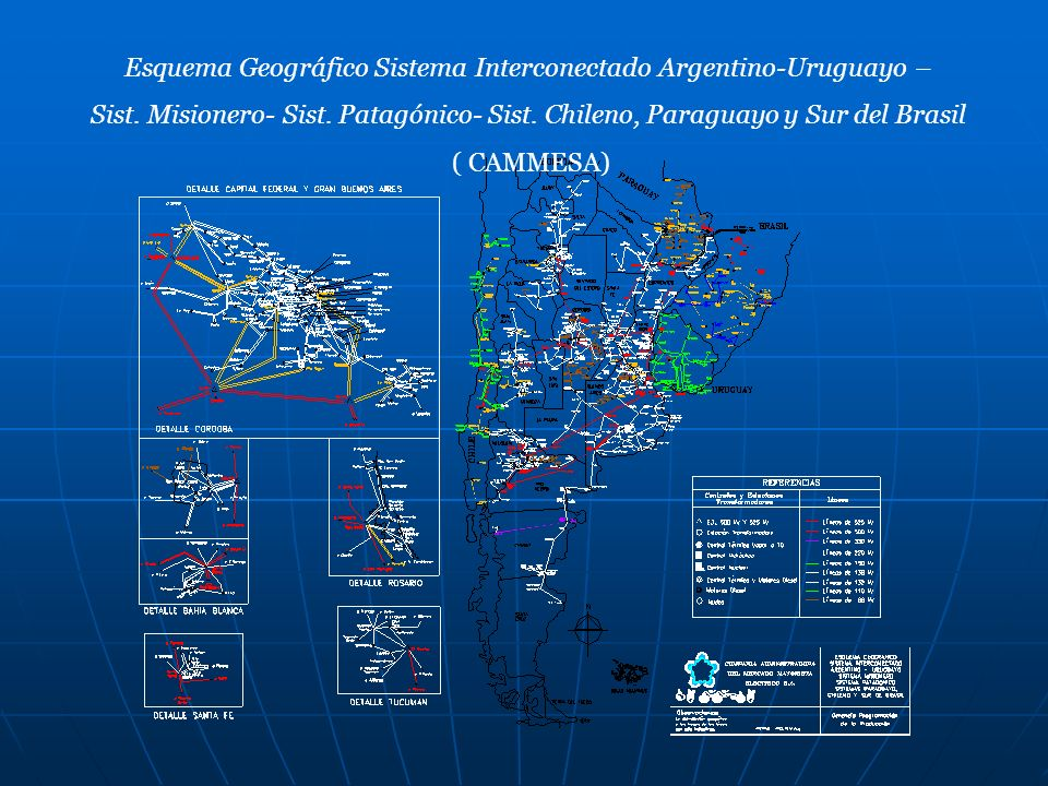 Esquema Geográfico Sistema Interconectado Argentino-Uruguayo –