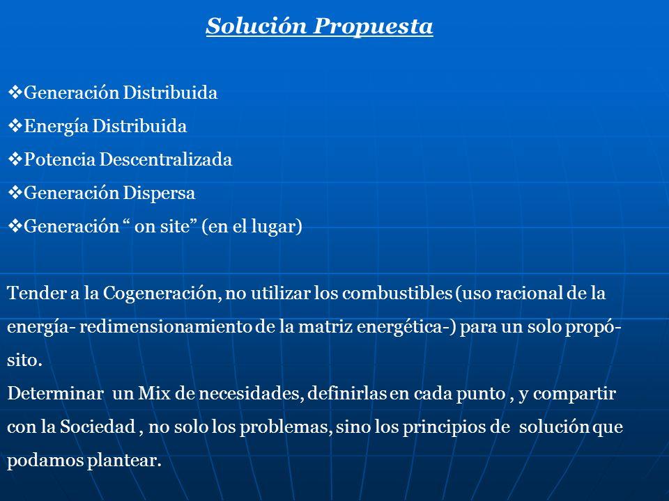 Solución Propuesta Generación Distribuida Energía Distribuida