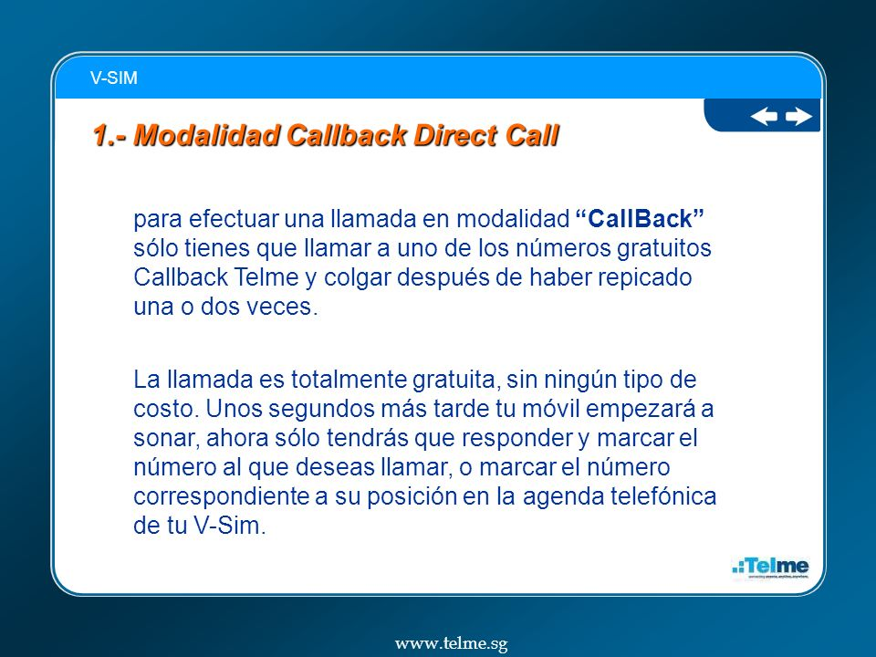 1.- Modalidad Callback Direct Call