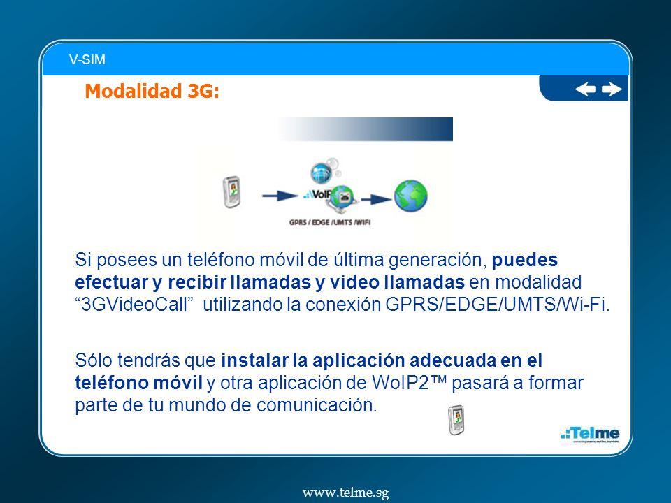 V-SIM Modalidad 3G: