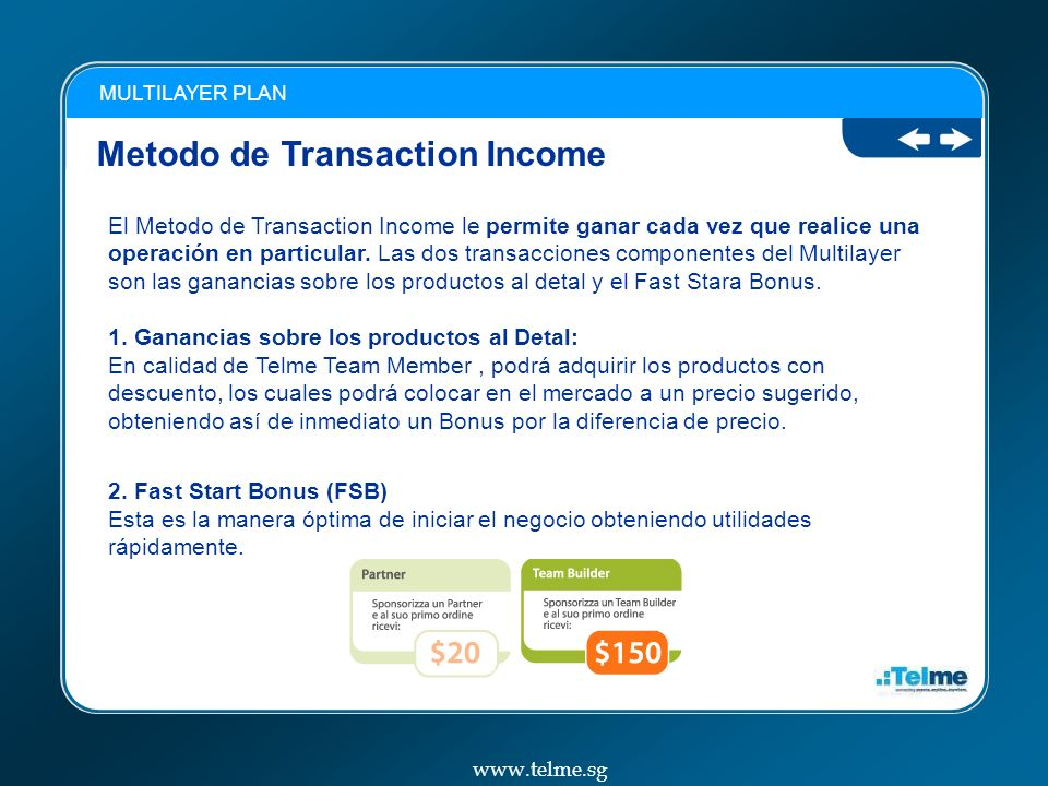 Metodo de Transaction Income
