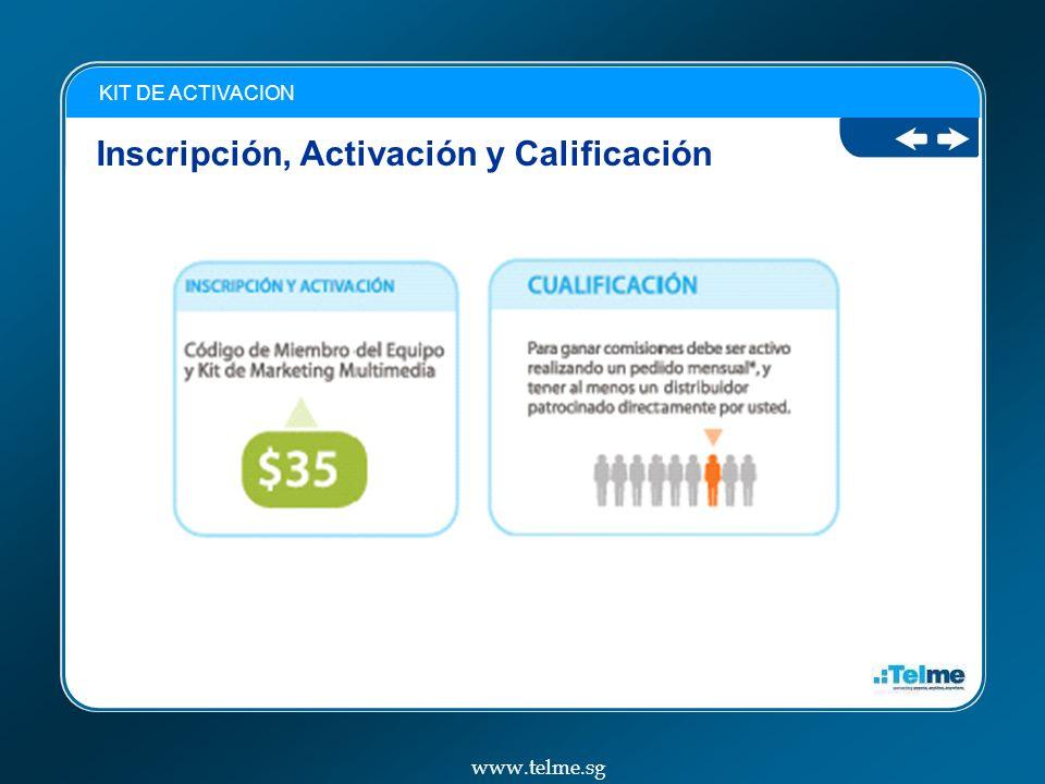 Inscripción, Activación y Calificación